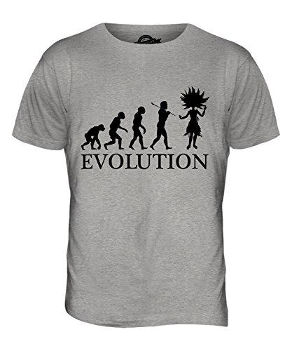 CandyMix Samba Evoluzione Umana T-Shirt da Uomo Maglietta Marne Grigio