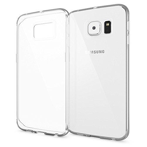 NALIA Handyhülle kompatibel mit Samsung Galaxy S6 Edge, Ultra-Slim Silikon Case Hülle Crystal Schutzhülle Dünn Durchsichtig, Handy-Tasche Schale Thin-Fit Back-Cover Smart-Phone Bumper - Transparent