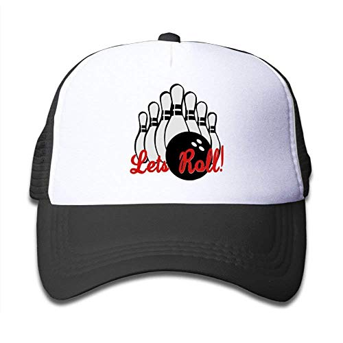 DANCENLI Create Your Children Style Mesh Hat Bowling Let's Roll Unisex Kids Baseball Mesh Cap