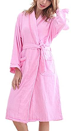 S T M Women S 100 Cotton Towelling Thin Terry Cloth Robe