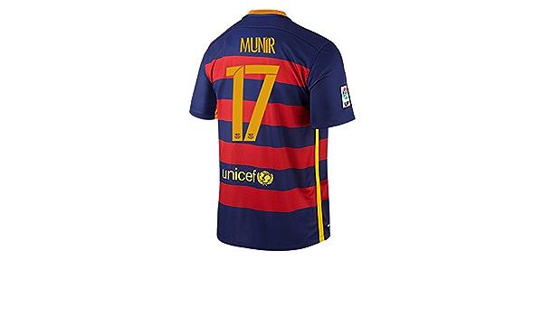 Nike Munir #17 Barcellona Calcio Casa Maglia 2015/2016 (Nome ...