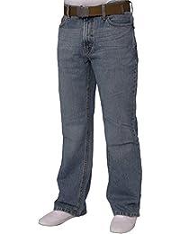 FBM Pantalon de travail avec ceinture gratuite Homme Légèrement délavé