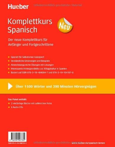 Komplettkurs Neu: Komplettkurs Spanisch Neu: Paket: 2 Übungsbücher + 6 Audio-CDs