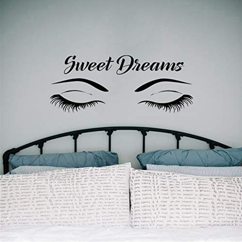 Sshssh Schließen Sie Augen Tapete Sweet Dream Applique Vinyl Schlafzimmer Anwendbare Gummy Girl Room Wandaufkleber - Sweet Dreams Auge