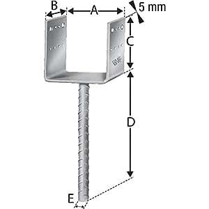 Simpson Support pied PPD 80/70g de B surface galvanisée à chaud avec autorisation