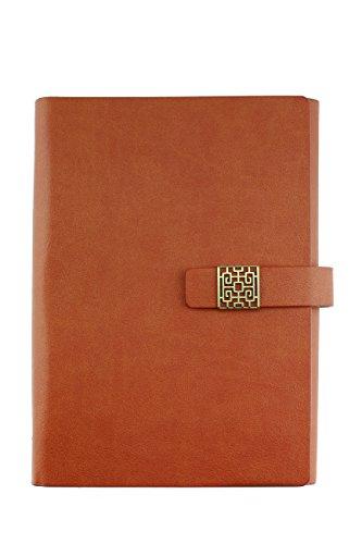 Notizbuch A5NACHFÜLLBAR, stilvoller Personal Organizer, Papier Größe: 14x 20,3cm