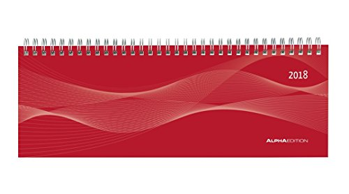 Agenda Weekly Planner Red 2018 29.7 x 10.5 cm