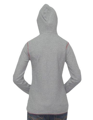 NCAA Washington State Cougars Femme Slim Fit Long Sleeve Hooded Shirt Gris
