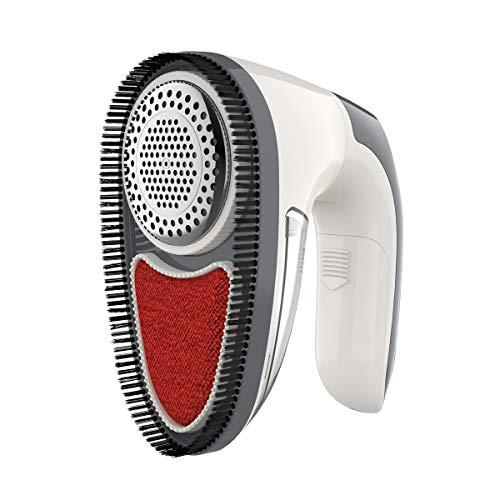dodocool Removedor de pelusas, color blanco, eléctrico, portátil, para quitar pelusas, afeitadora de pelusas recargable, rápida y segura para ropa, cortinas, juguetes, cojines