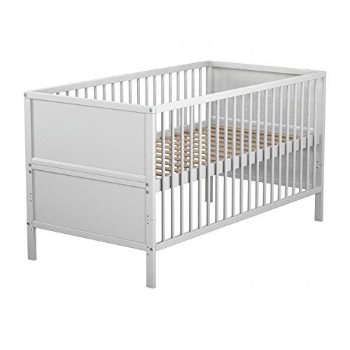 Lit bébé évolutif en bois laqué blanc Baby Fox 70 x 140 cm