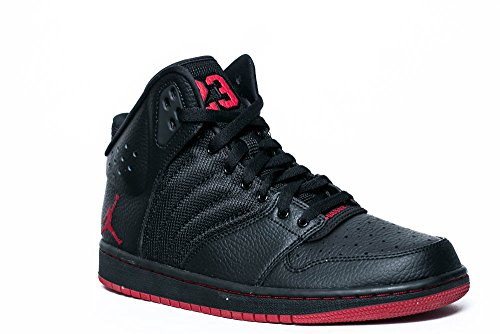 Nike Herren Jordan 1 Flight 4 Kinderwagen Basketballschuhe black turnhalle rot black 006