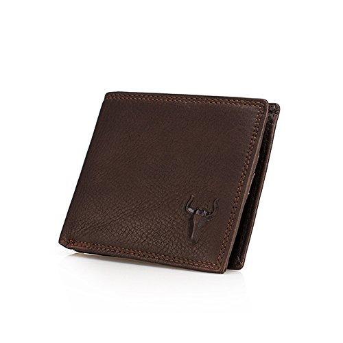 Xingxiu Herren Leder Brieftasche Große Kapazität Mehrere Kartenwechsel Tasche Cross Purse (Farbe : Mehrfarbig) (Brieftasche Hipster Leder Herren)