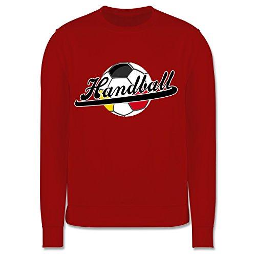 Shirtracer Handball WM 2019 Kinder - Handball Deutschland - 7-8 Jahre (128) - Rot - JH030K - Kinder Pullover