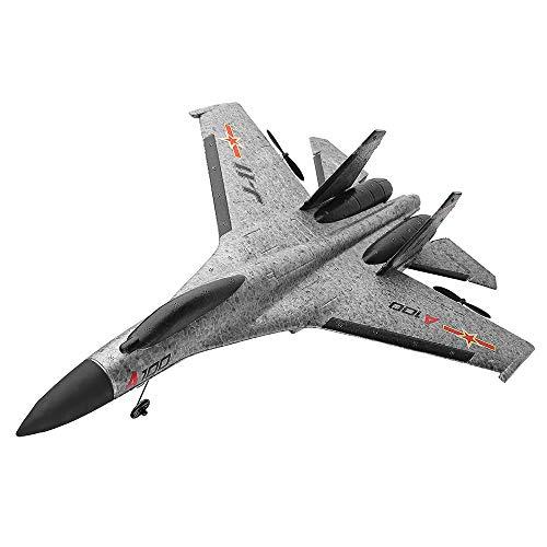 Bescita RC Segelflugzeug Ferngesteuertes Flugzeug, Original WLtoys A100 SU-27 3CH 2,4 G RC EPP Flugzeug Brushless Motor 3D6G Outdoor für ab 14 Jahren (Grau) (Fernbedienung Flugzeug-motoren)