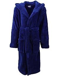 Betz Albornoz Bata para niños chicos y chicas con capucha Kids Comfort de color fucsia tamaño 152