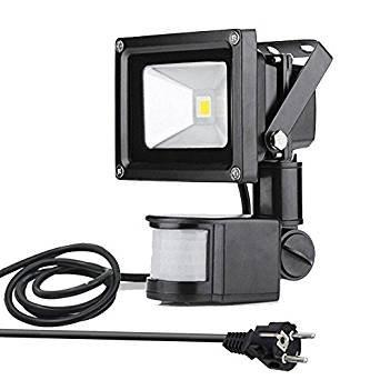 GLW 10W Projecteur LED Detecteur de Mouvement Sécurité eclairage exterieur
