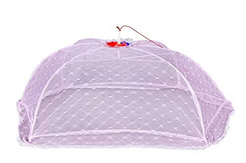 ome empex Baby Mosquito Net Self Printed Umbrella (Purple)
