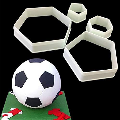 Carry stone Kuchenform, Sugarcraft Fußball Kunststoff Fondant Cutter Kuchenform Fondantform Fondant Kuchen Dekorieren Tools Weiß Langlebig und praktisch