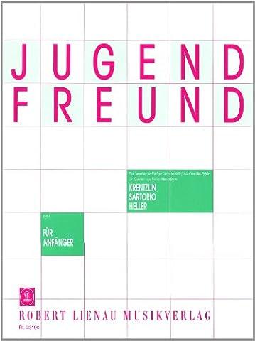 Jugendfreund: Eine Sammlung vierhändiger Charakterstücke für das Vom-Blatt-Spiel der Elementar- und leichten Mittelstufe von Richard Krentzlin, A. ... M.P. Heller u. a.. Heft 1. Klavier 4-händig.