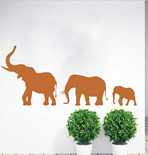 Lkfqjd Marcha Elefantes Familia Tatuajes De Pared De Vinilo Arte Pegatina Vivero...