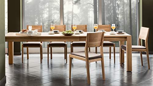 Alkove - Hayes - Set da 2 sedie per tavolo da pranzo in legno massello con  seduta imbottita, in quercia selvatica