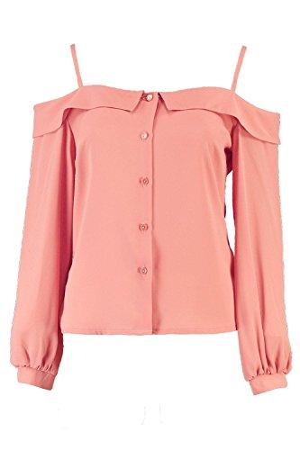Dusky Pink Femmes Harper Chemise Tissée À Épaules Dénudées Dusky Pink
