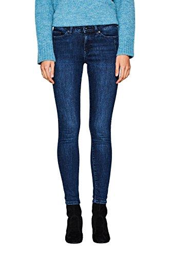 edc by ESPRIT Damen Skinny Jeans 107CC1B008, Blau (Blue Dark Wash 901), W28/L32
