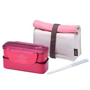 Lock & Lock Rechteckig Slim Lunch Box Bento Set-HPL740P, Pink