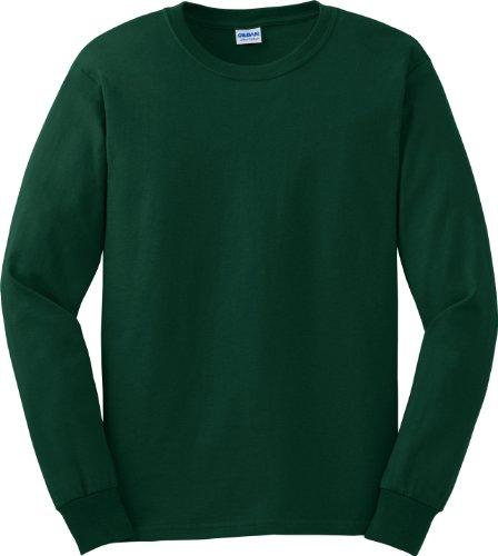 Gildan 6oz ultra Cottontm lunga da uomo verde - Verde foresta