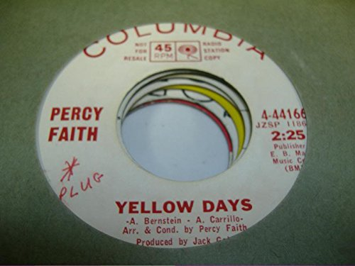 percy-faith-45-rpm-yellow-days-kahlua
