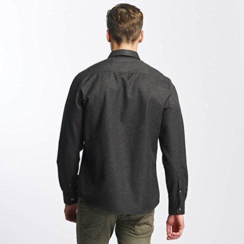 ONLY & SONS Herren Freizeithemd Onsbaily Ls Melange Shirt Dunkelgrau