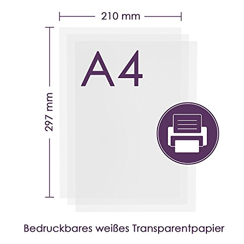 Billig Tritart Transparentpapier Bedruckbar Weiß DIN A4   125 Blatt ...