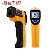 MeterMall Digital Infrared Thermometer, ZOTEK GM320 Professional Non-Contact Laser Temperature Tester Gun Measuring Range -50 to 380°C (-58 to 716°F) with LCD Display 2pcs AAA Battery Included Yellow
