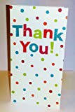 Pack of 16 Glitter Finished Thank You Cards with Spots