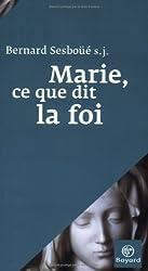 Marie, ce que dit la foi