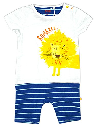 Baby Boys Lion Roarrr Mock Shorts All in One Romper Playsuit sizes from Newborn to 12 Months
