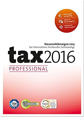 tax 2016 Professional (für Steuerjahr 2015)