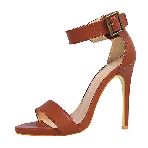 YIBLBOX Damen High Heel Stiletto Pumps Sandalen Party Schuhe Damen Riemchen Abend Sandaletten Schuhe