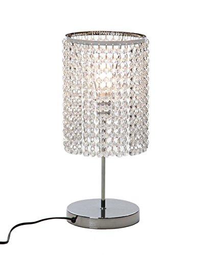 delle fabriqué Fonction Touch cristal Lampe de table Lampe de chevet décorative Argenté