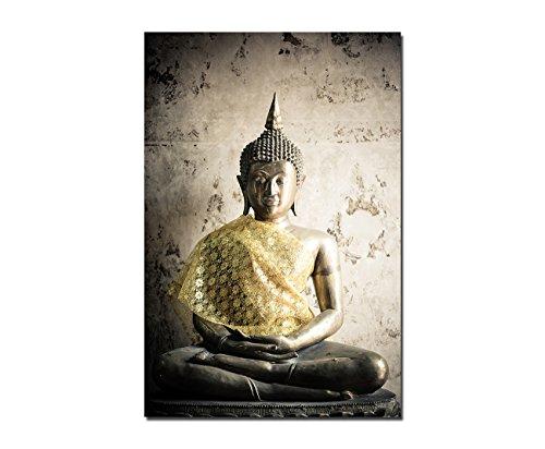 Thailand Buddha-statue (120x60cm - Buddha Thailand Statue - Bild auf Keilrahmen modern stilvoll - Bilder und Dekoration)