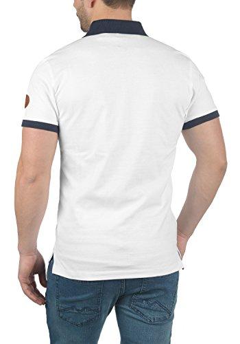 Blend Ralf Herren Poloshirt T-Shirt Kurzarm mit Polokragen Aus 100% Baumwolle Slim Fit White (70002)