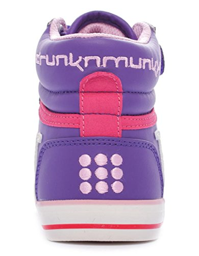 Drunknmunky Boston Classic 203 filles, cuir lisse, sneaker high Violet