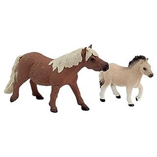 Shetland Pony Mutter & Fohlen Set Bauernhof Tier Figur by Animal Planet