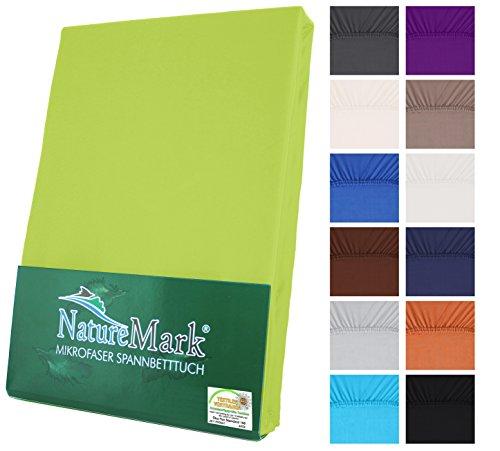 NatureMark Microfaser Spannbetttuch Spannbettlaken in allen Größen und vielen Farben