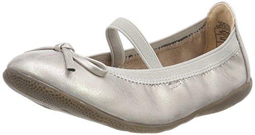 (Indigo Schuhe Mädchen 422 227 Geschlossene Ballerinas, Silber (Silver), 38 EU)