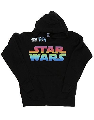 Star Wars Damen Rainbow Logo Kapuzenpullover Schwarz