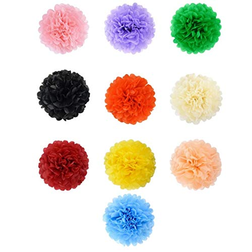 pierblumen-Partei-Dekorationen Handgefertigte Florale Pom Poms Tissue Künstliche Blumen-Ball-Babyparty-Geburtstags-Party Hochzeit Dekoration Supplies ()