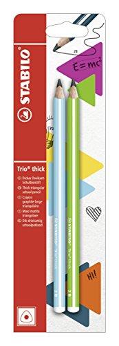 Matita in Grafite - STABILO Trio thick in Blu/Verde - Pack da 2 - Gradazione 2B