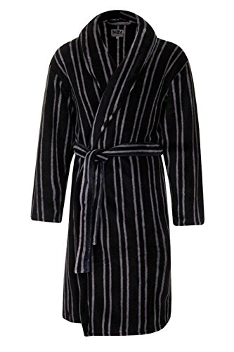 LUXURY MENS GENTS FULL LENGTH VELOUR FLEECE ROBE DRESSING GOWN HOUSECOAT ROBES + BELT SIZE S- XL Test