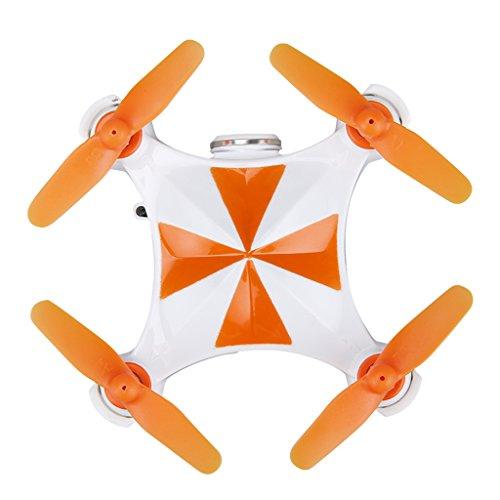 Virhuck v-3 drone wifi fpv drone quadcopter, con telecamera da 0,3 mp/controllo di altitudine/controllo app/one-key take-off/gesto sensing/rotazione 3d/360 gradi eversion/led mini drone luce san valentino - arancione